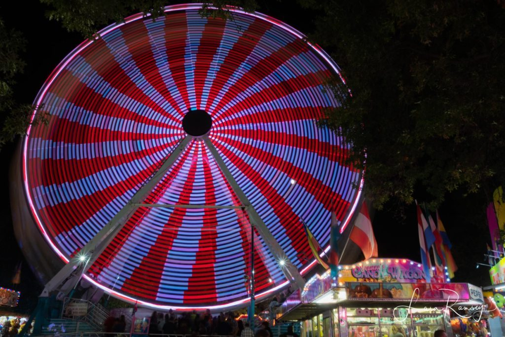 Nighttime at the West Side Nut Club Fall Festival