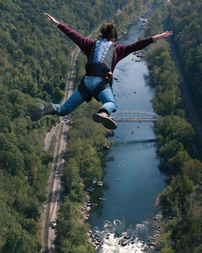 Jump from the bridge at New River Gorge