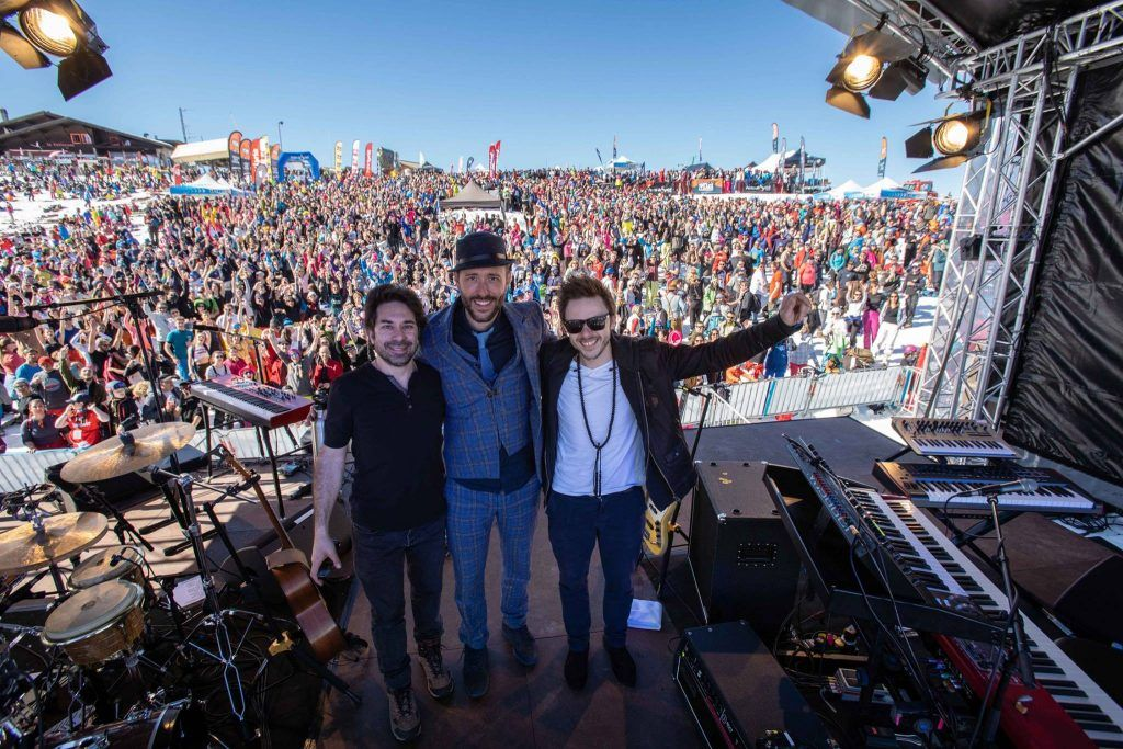 concert at Rock the Pistes