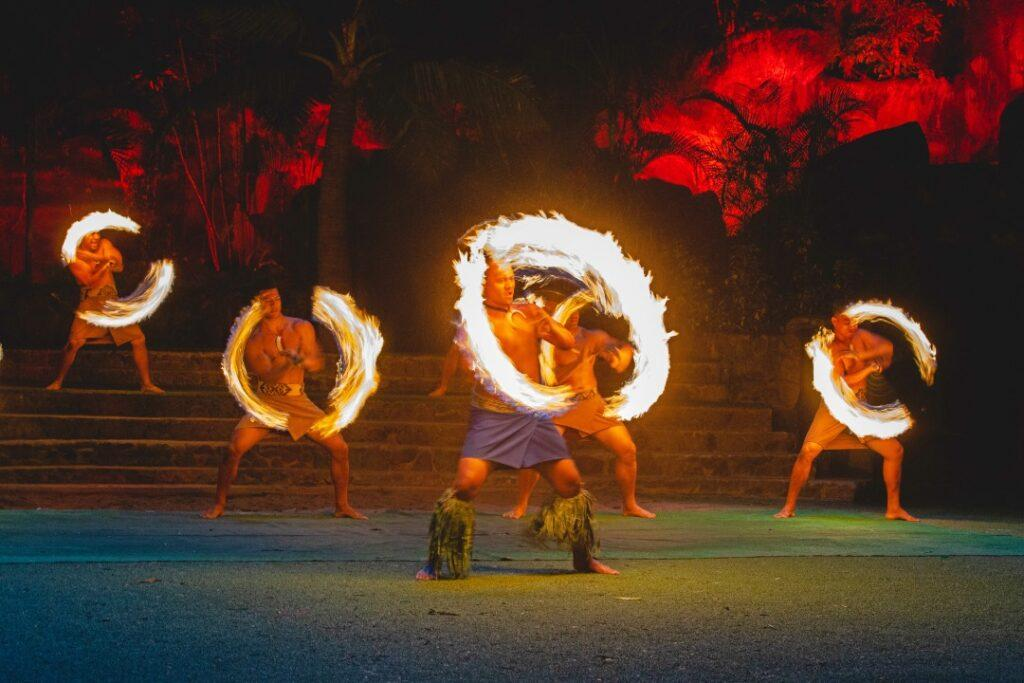 amazing fire show in Hawaii