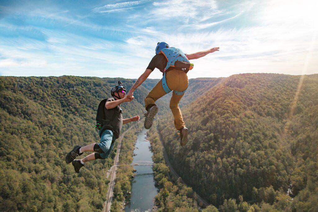 Tandem jump at New River Gorge