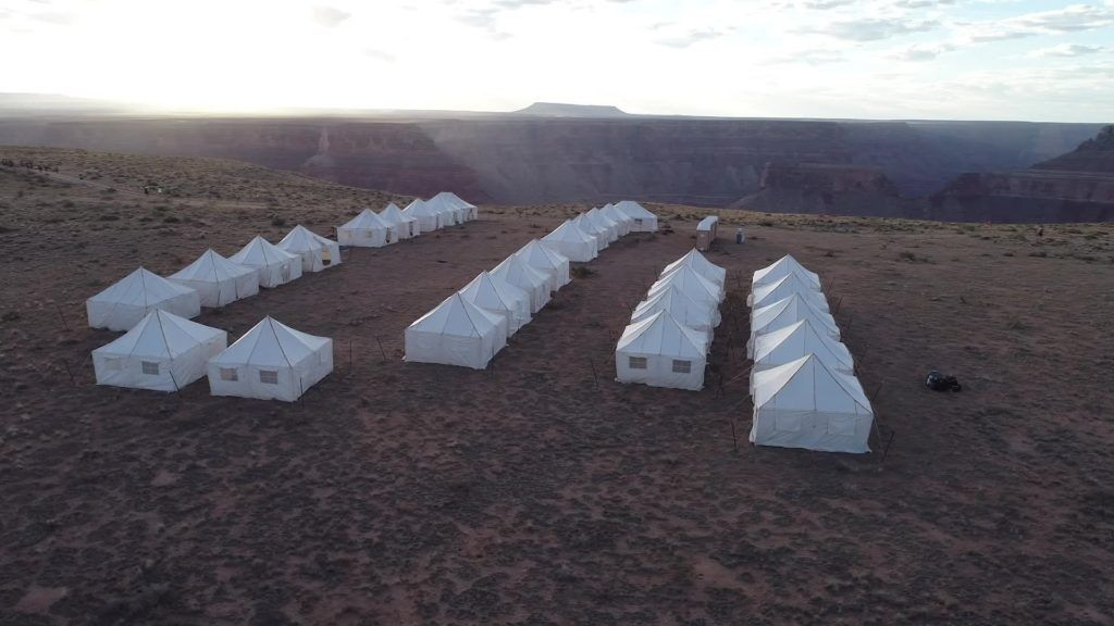 spacious and cozy tents at the Grand to Grand