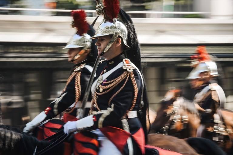 Military parade in Paris