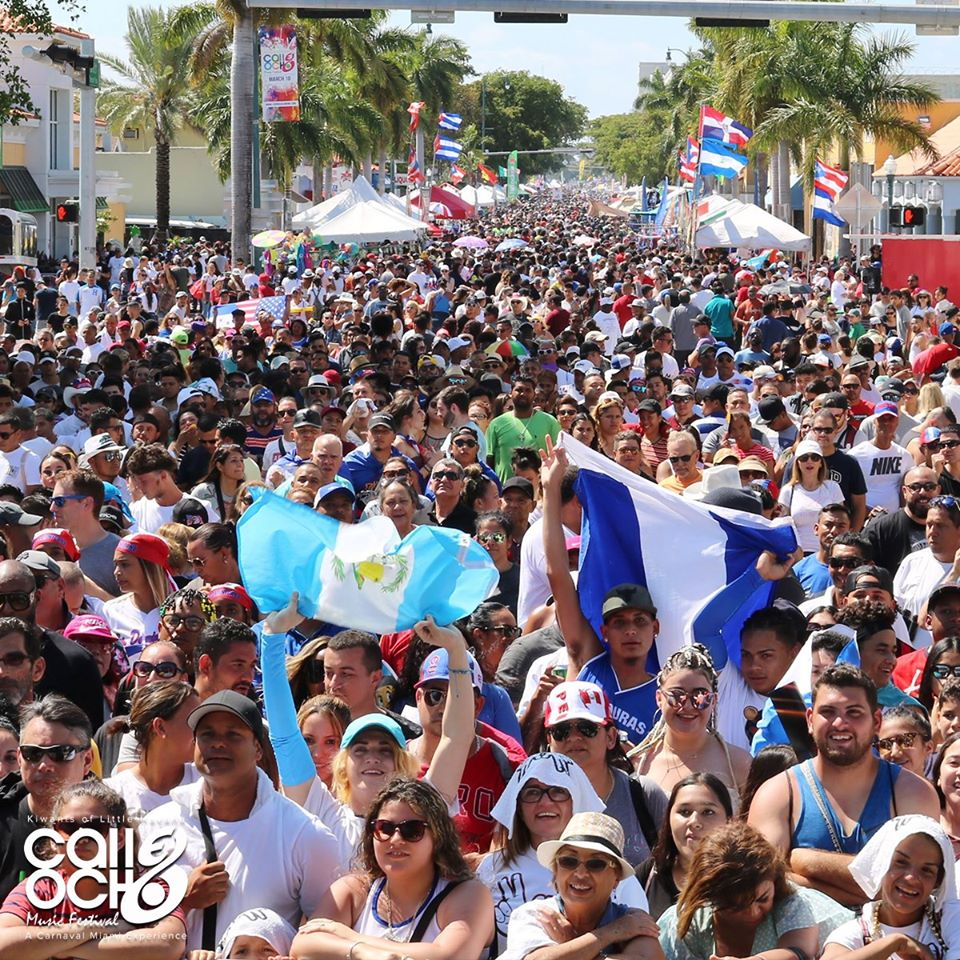 Calle Ocho festival during Miami Carnival