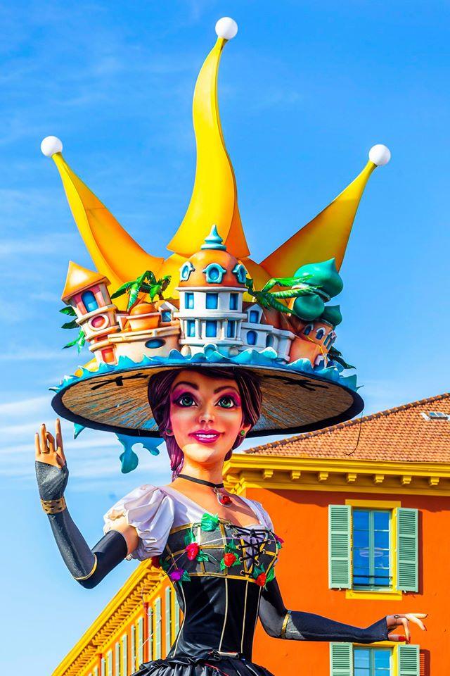 Carnaval de Nice giant float at Nice Carnival