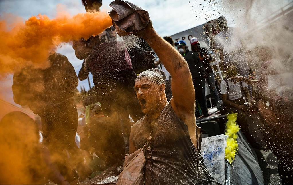Flour War in Greece the Monday before lent