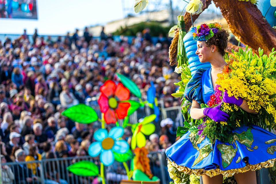 Nice Carnival Parade and flower float
