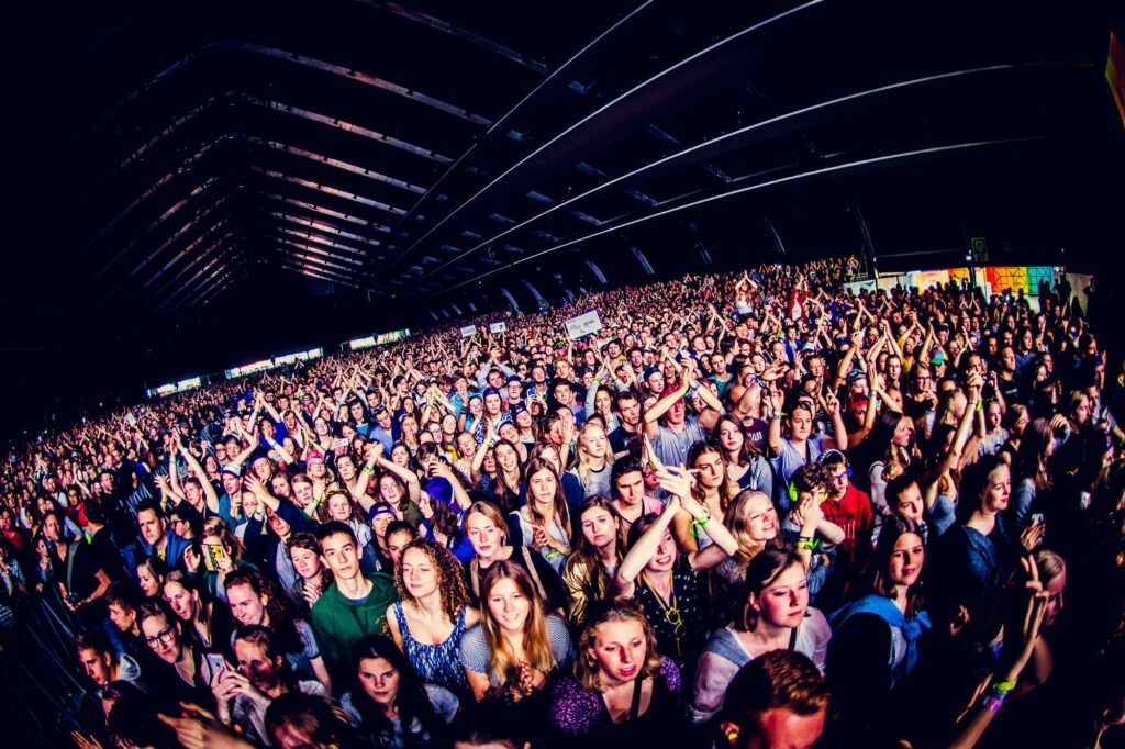 Rock Werchter crowd and venue