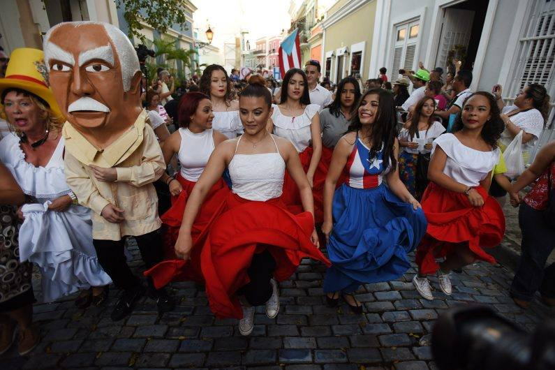 dancing in the streets of Old San Juan