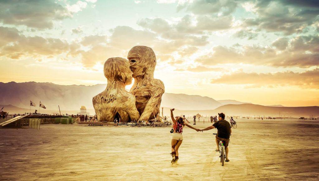 Burning Man Fans at Black Rock, Nevada