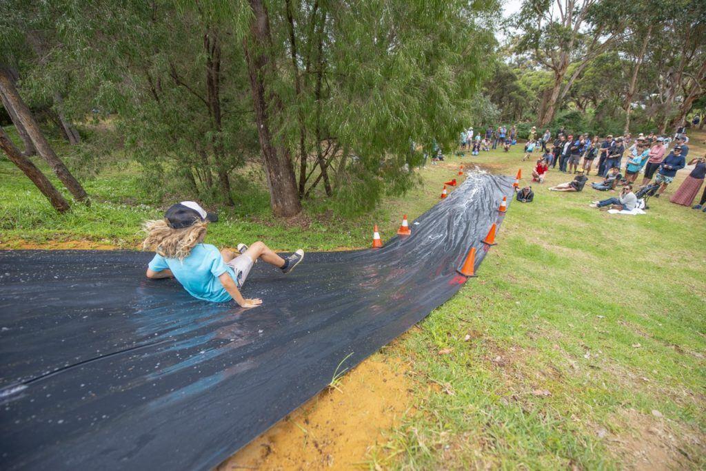 Augusta Adventure Fest Junior Survivor slip and slide
