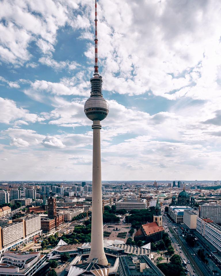 the best view of Berlin at the top of the Berlin TV Tower