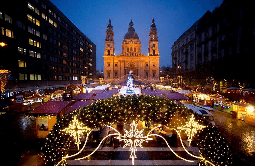 Budapest Christmas festival in Hungary