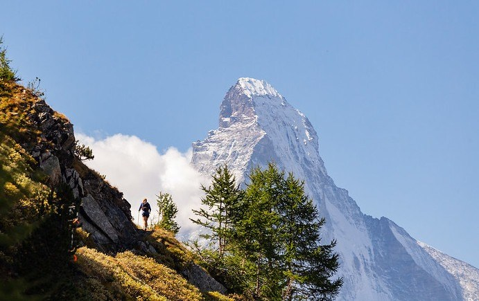 Amazing views during the Ultra Tour Monte Rosa