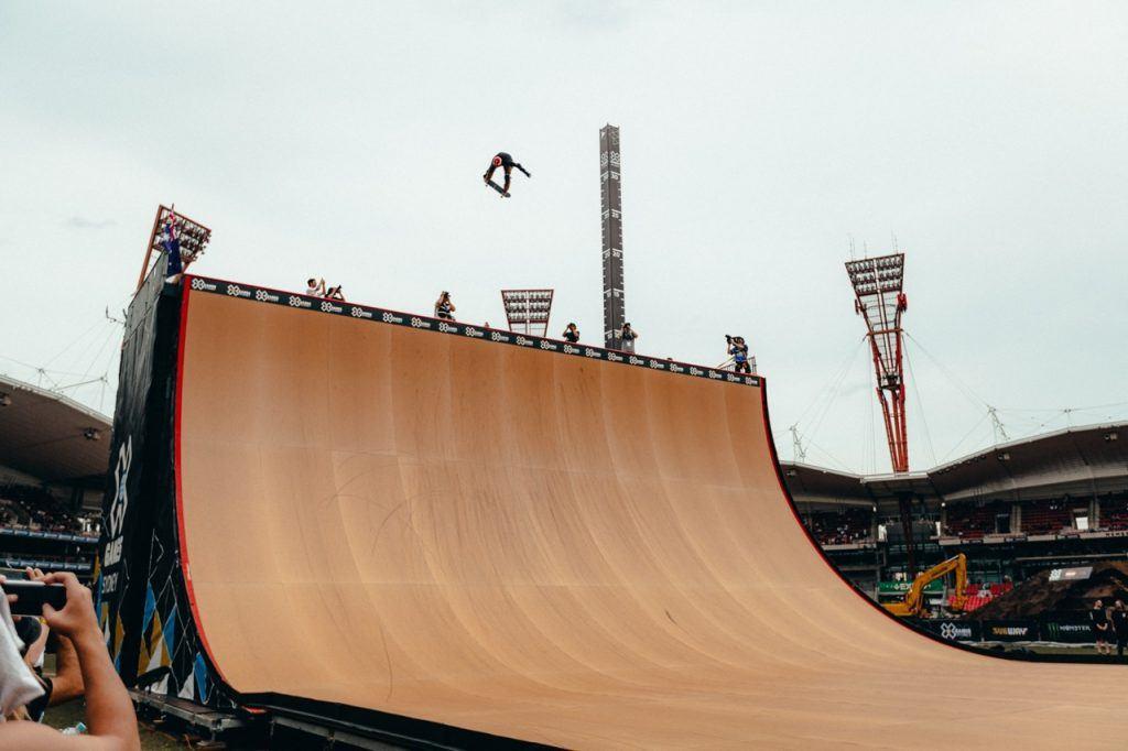 Skateboard Big Air Going large at X Games