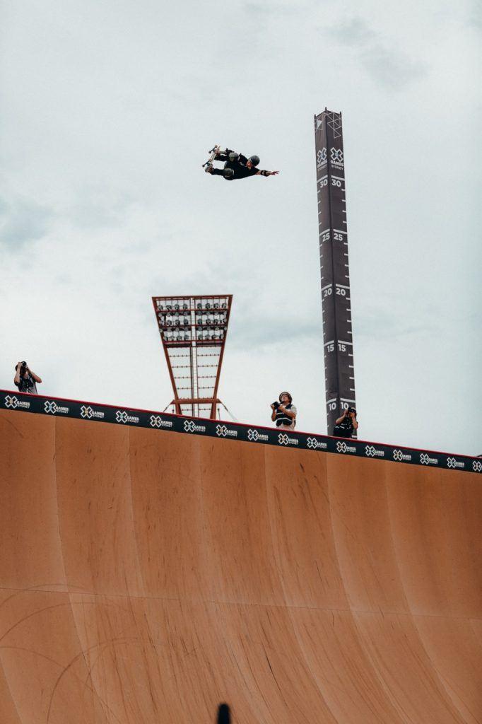 X Games Sydney Skateboard Big Air Grab