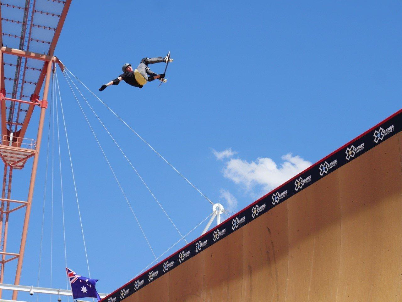 X Games Sydney Day 1 Skateboard Big Air Qualifier