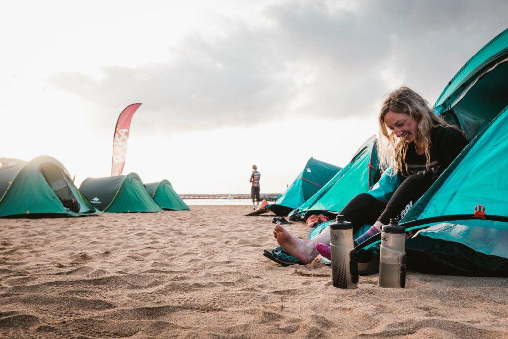 Camping during Trans Madeira