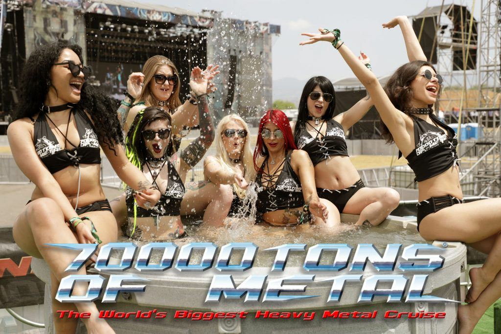 pool party at 7000 tons of metal