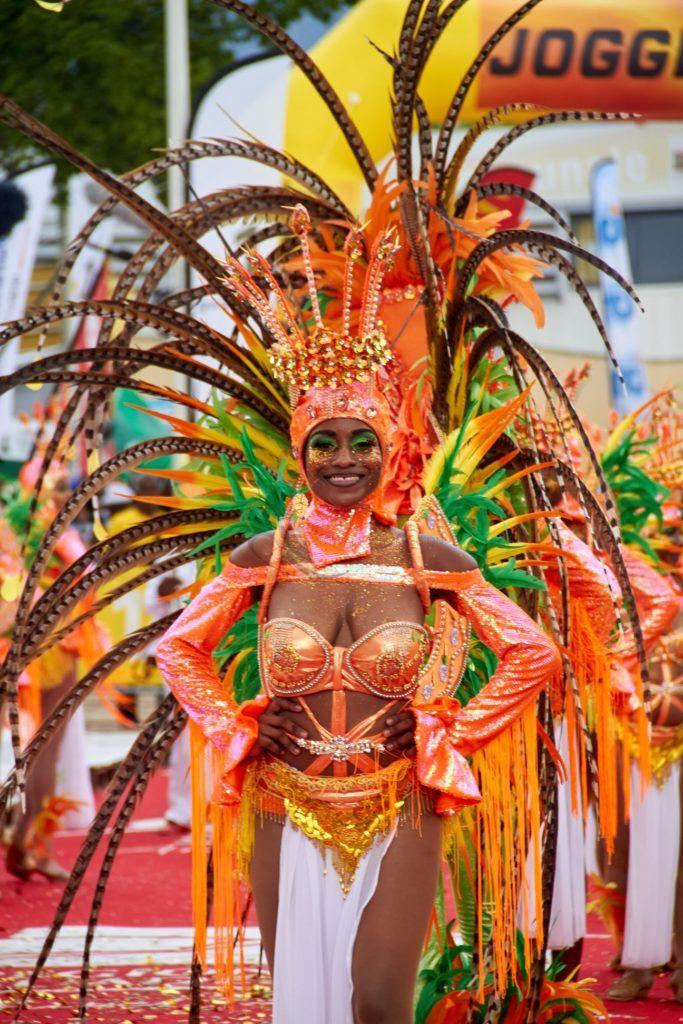 Antigua Carnival costume in the parade