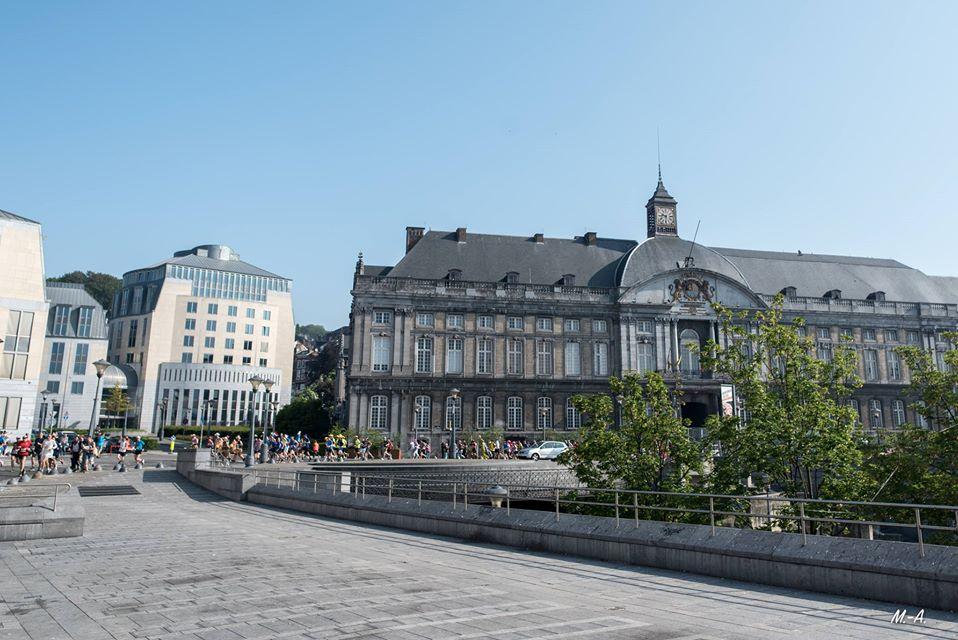 Liège city centre in Belgium