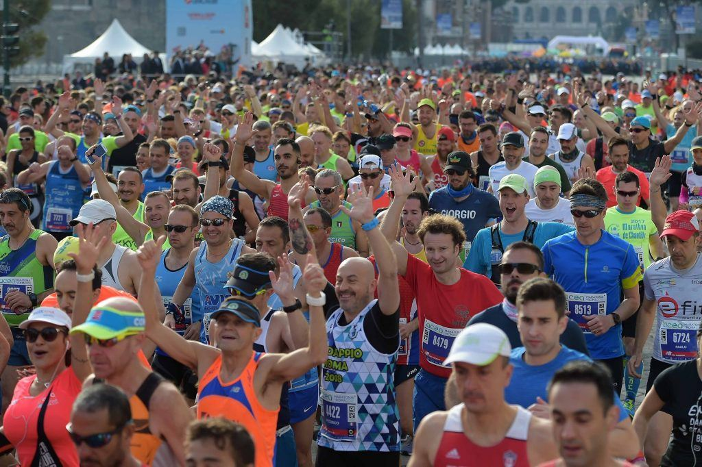 15,000 of local and foreign runners participate at Rome Marathon