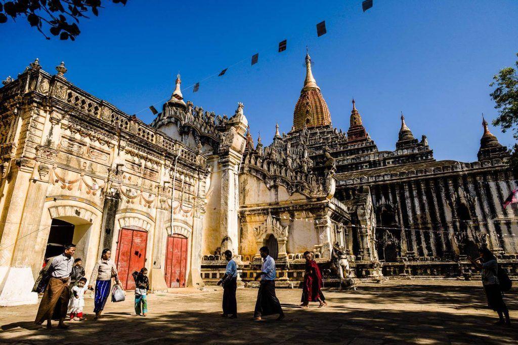 Festivals in January, bagan ananda pagoda festival in Myanmar