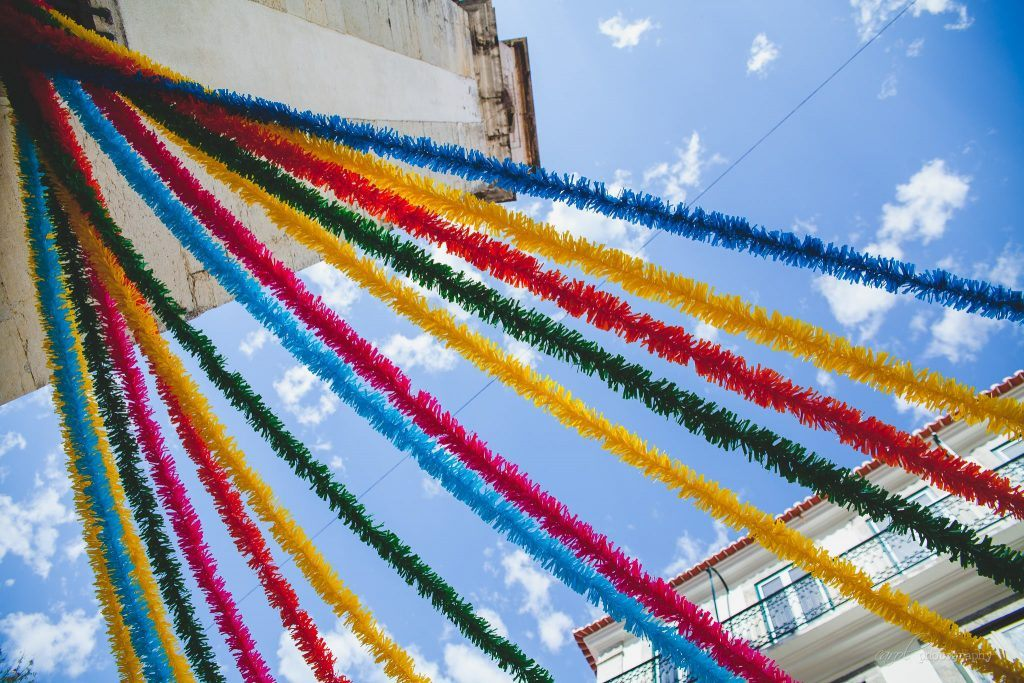 Decorations across Lisbon in Portugal