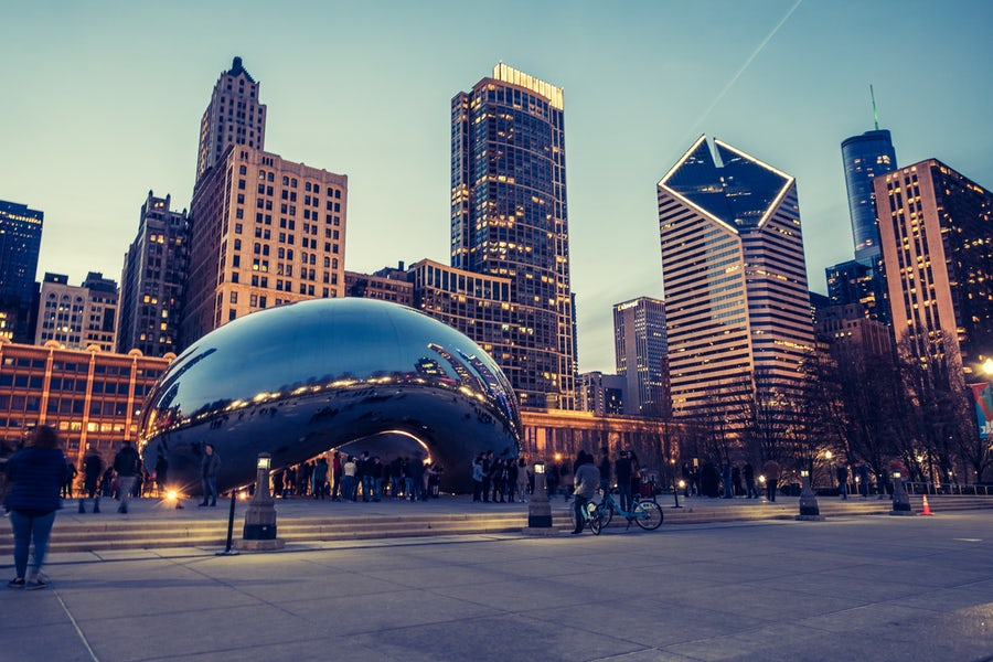 Chicago Bean City Skyline