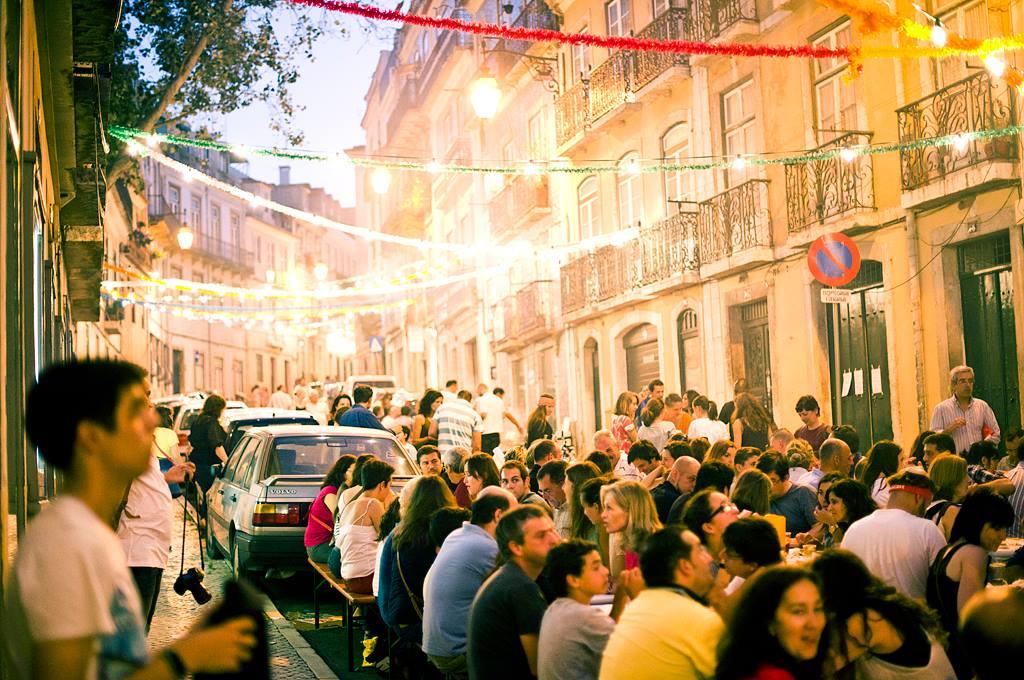 Santo Antonio street party in Lisbon
