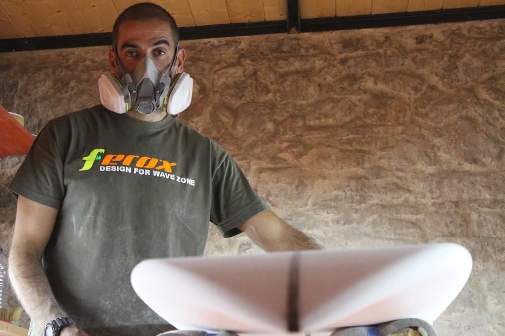 Octavio Lourenco from Ferox Surfboard Shapers in Portugal