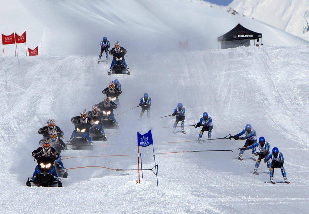 high-octane racing action at Arctic Man