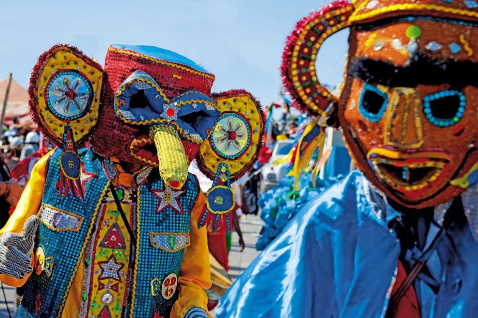 Barranquilla Carnival parade and party in Colombia