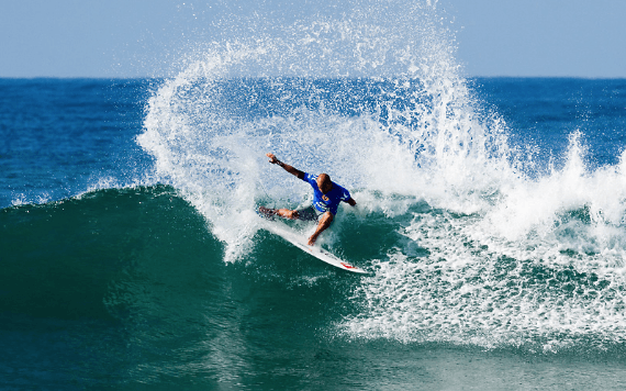 Kelly Slater surfing at J-Bay