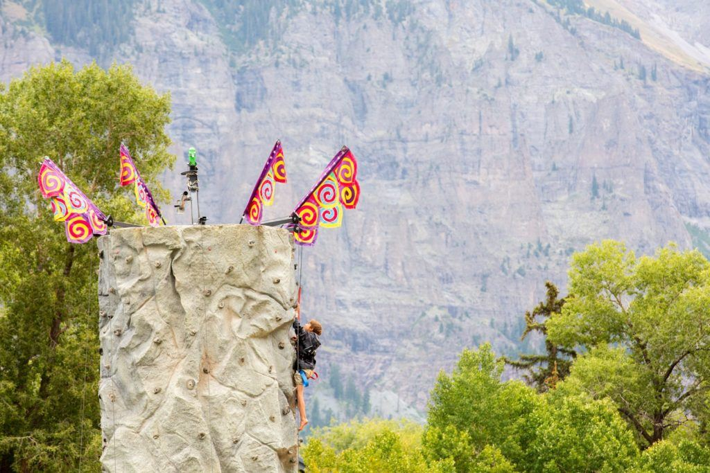 Climbing at Telluride Blues and Brews