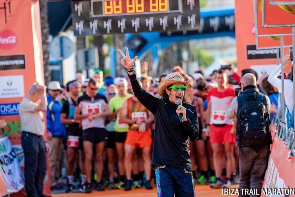 Runners at the Trail Marathon start
