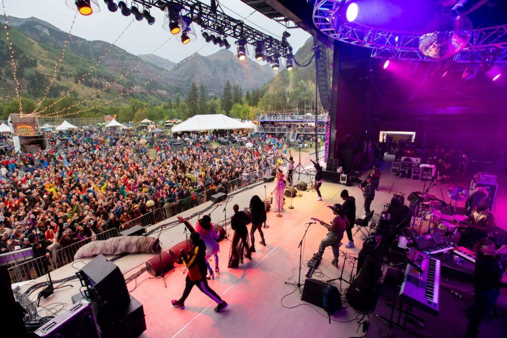 View from the stage at Telluride Blues and Brews