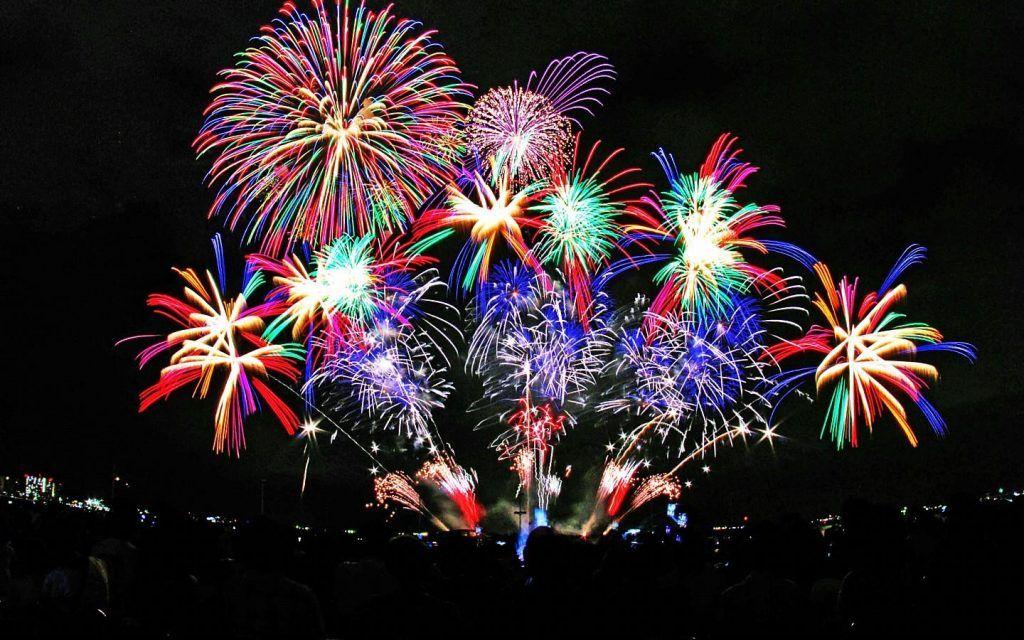 Amazing fireworks in Porto