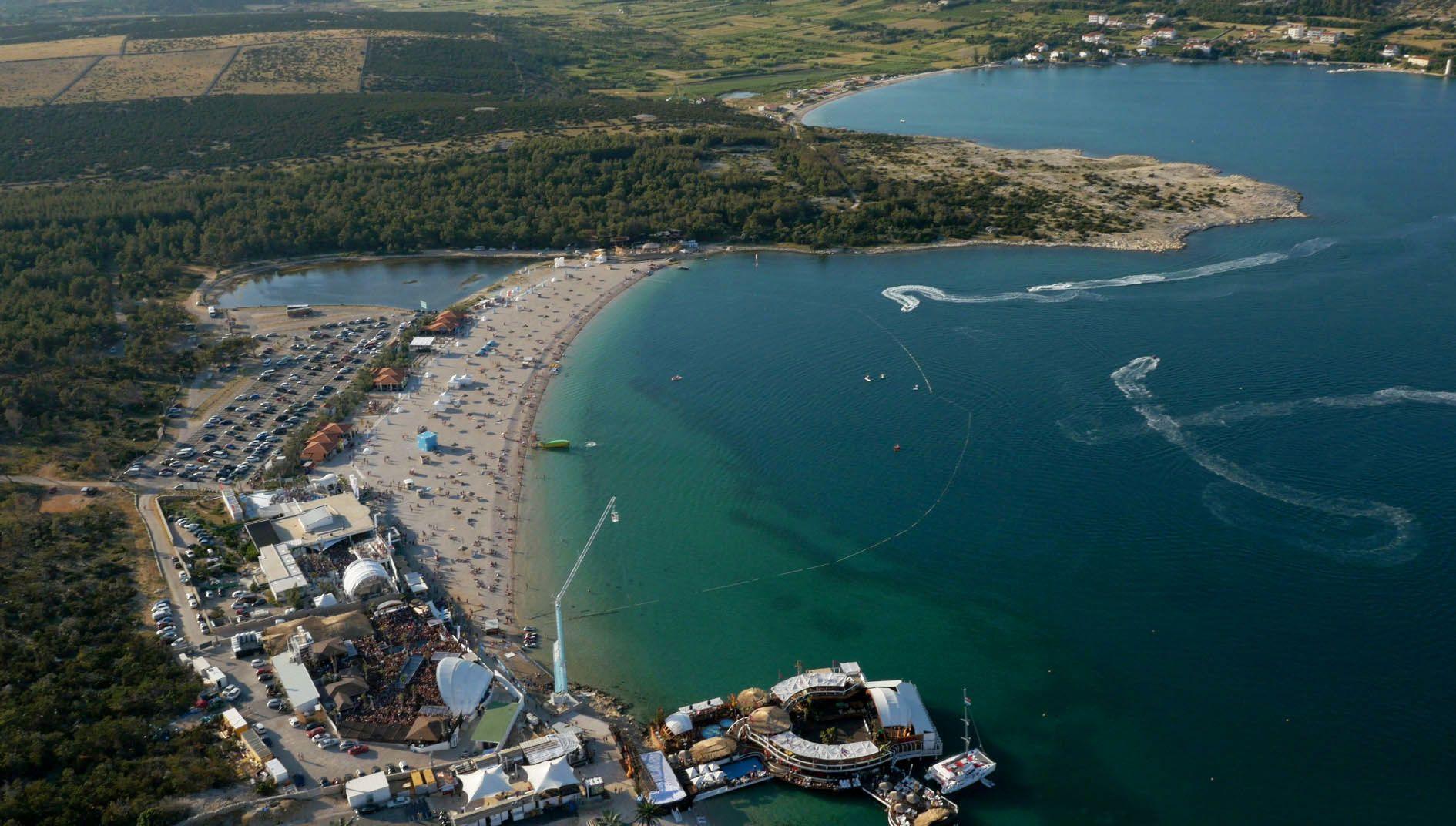 Zrce Beach in Novalja Croatia