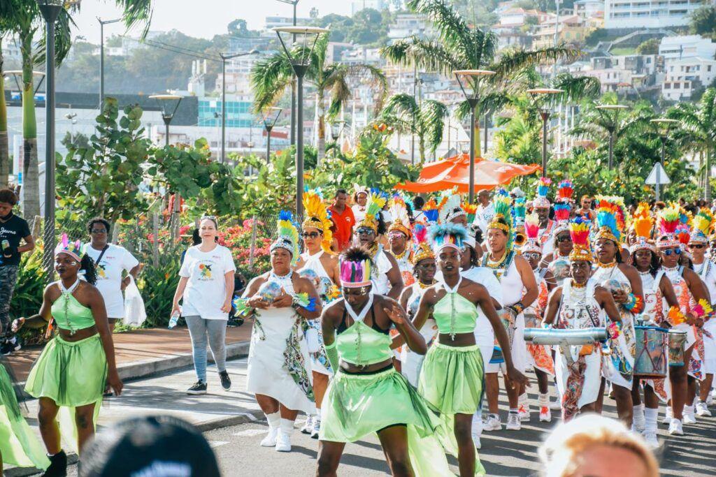 street parade in Martinique