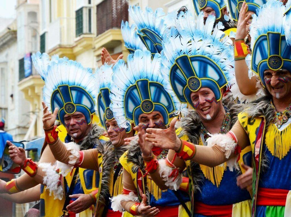 Carnival show in Cadiz
