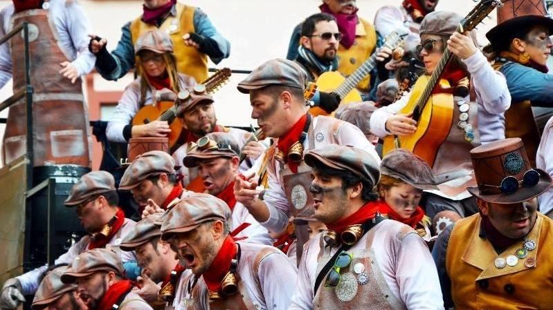 Carnival on the streets in Cadiz