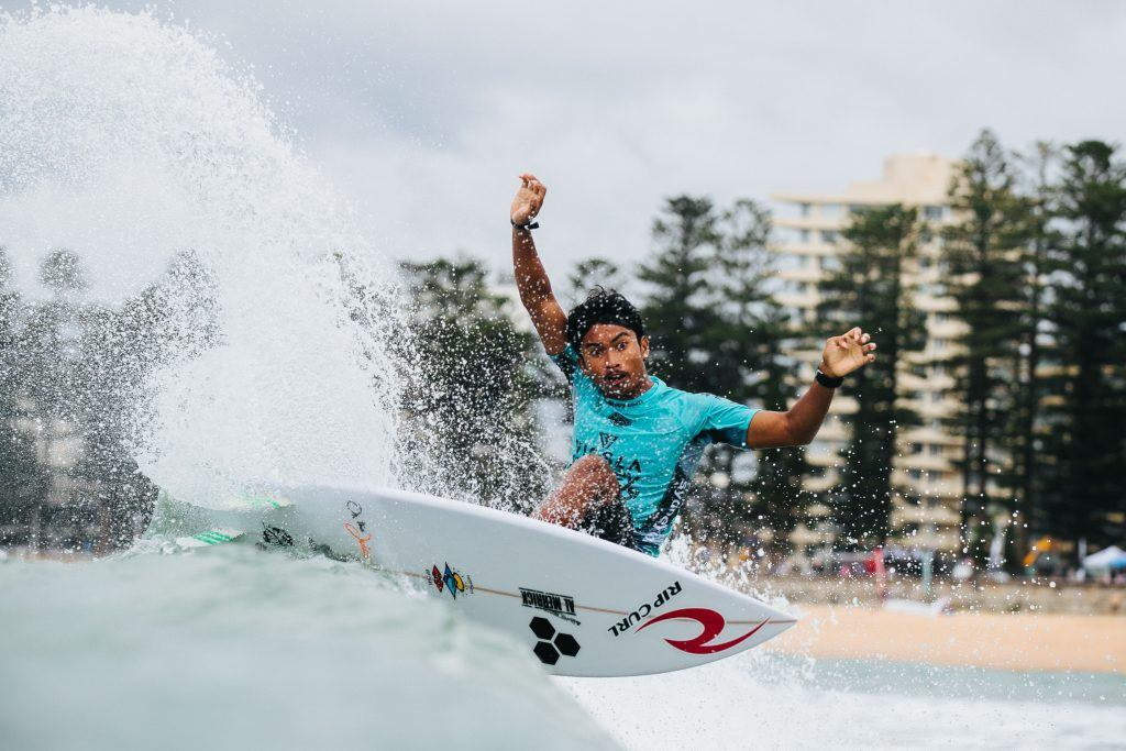 Ketut Agus at the Manly Sydney Surf Pro