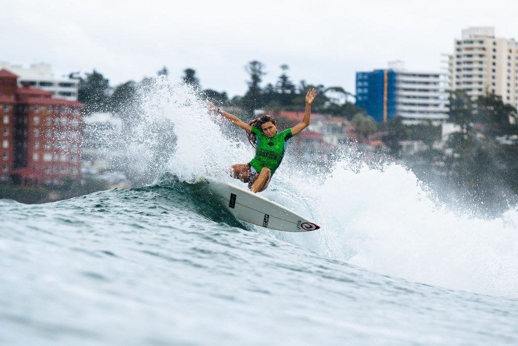 Alana Blanchard surfing at the VISSLA Sydney Surf Pro