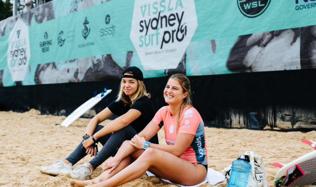 Cannelle Bulard was all smiles on Day 1 at Manly Sydney Surf Pro
