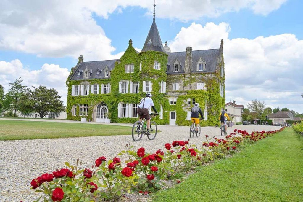 Cycling along castles in France