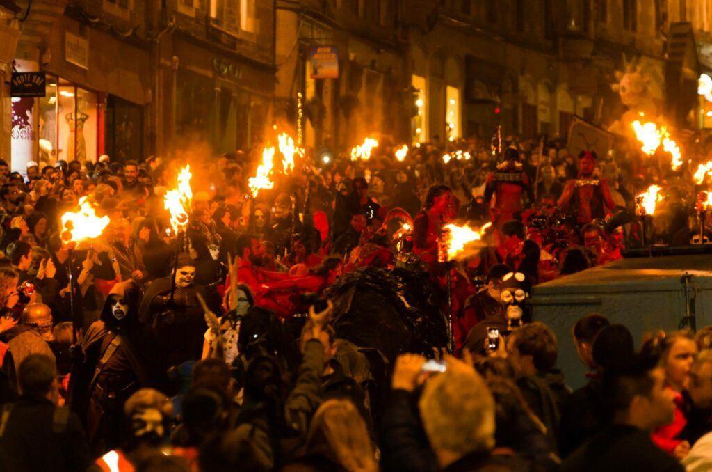 Samhuinn Fire Festival on Halloween in Edinburgh