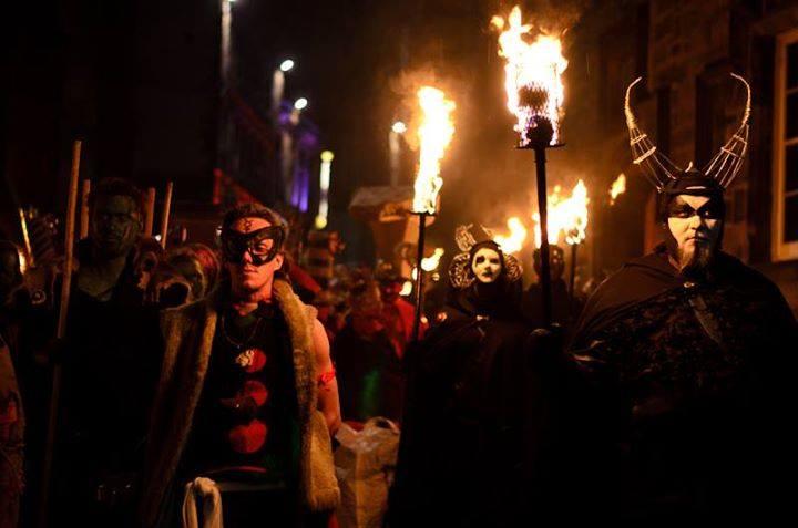 Fiery show for Halloween in Scotland