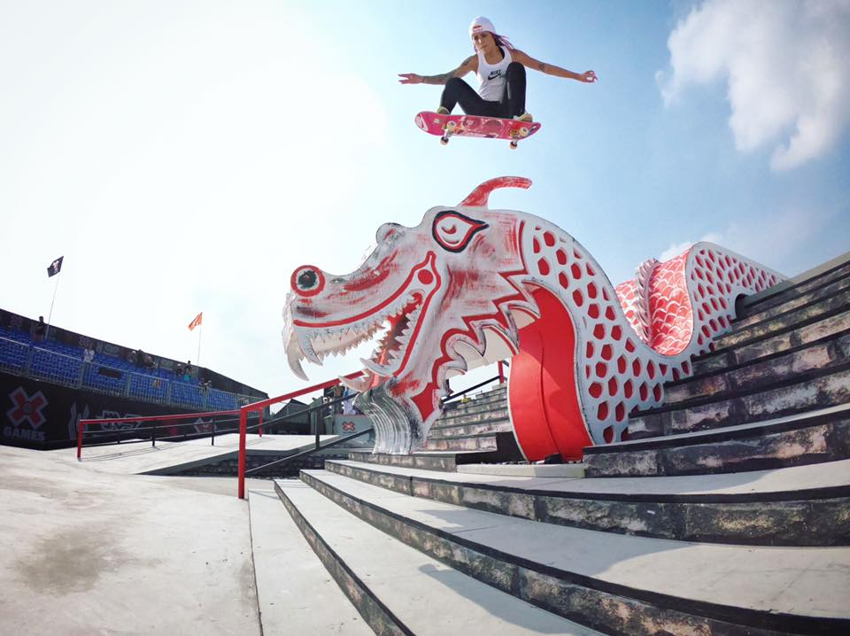 Only in China you can jump over a dragon