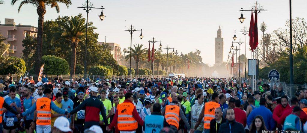 Marrakech Marathon in Morocco